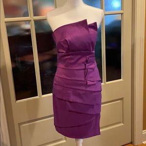FUN PARTY DRESS!  Bright purple, SUPER flattering!